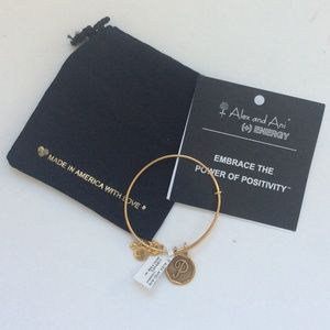 "ALEX AND ANI "" P "" bracelet initial"