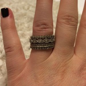 Jewelry - Silver and diamond ring set