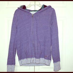 Comfy purple zip up