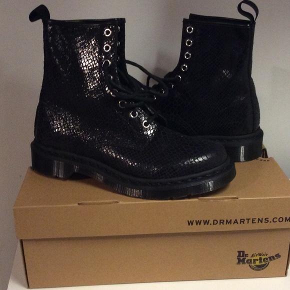 2ca38f4ccd224 Dr. Martens Shoes   New List Dr Martens Hi Shine Snake Black Noir ...