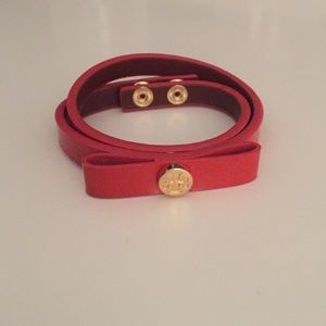 Tory Burch orange wrap bracelet never worn!!