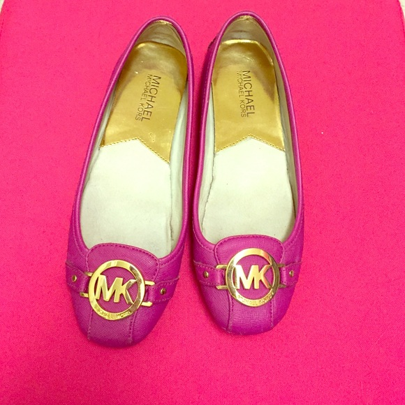 f72d88307 MICHAEL Michael Kors Shoes | Michael Kors Pink Gold Flats | Poshmark