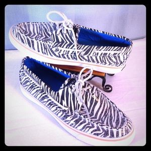 Sperry Authentic 2Eyed Sequined Zebra Top-Siders