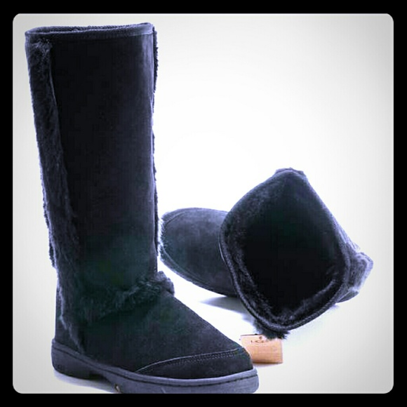 UGGS SUNBURST TALL BLACK
