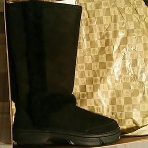 UGG Shoes - UGGS SUNBURST TALL BLACK