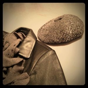 Kate Spade Cosmic Glow Grey Sequin Beret