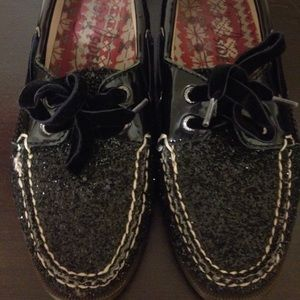 Sperry Top-Sider Shoes - Black Sparkley Sperrys