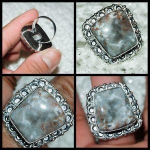 handmade & handcrafted gemstone jewelry Jewelry - ✂️SALE✂️Huge Ocean Jasper Stone Ring Size 9
