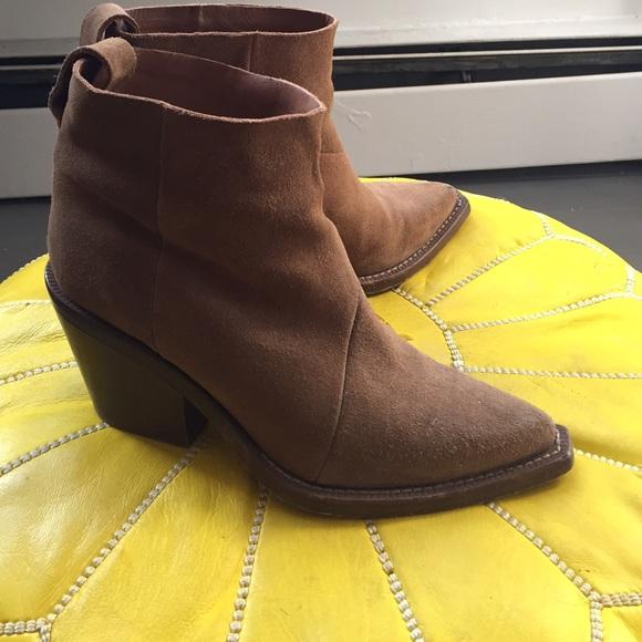 e9dd8c504d5 Acne Shoes | Studios Donna Suede Ankle Boots | Poshmark