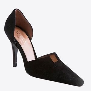 Gucci Shoes - GUCCI d'orsay suede heels