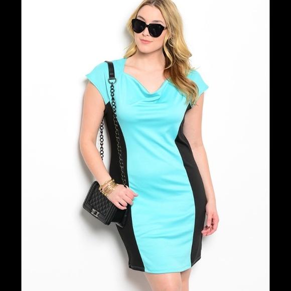 Dresses Plus Size Super Cute Black Mint Dress Poshmark