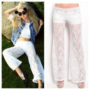 Pants - Mila Floral Lace Pants
