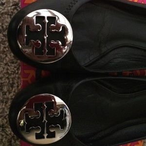 Tory Burch Shoes - Tory Burch classic Reva flats. silver hardware
