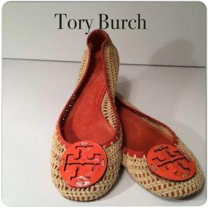 ❤️️Host Pick Tory Burch Orange Rory Ballet Flat