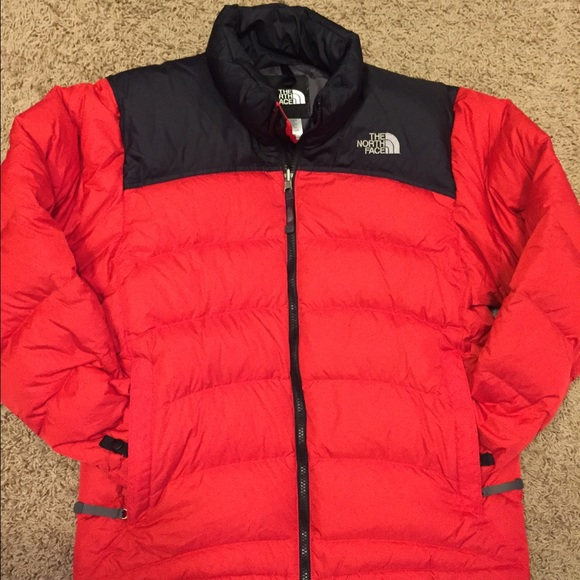 The North Face Jackets Coats New North Face Nuptse Red Black