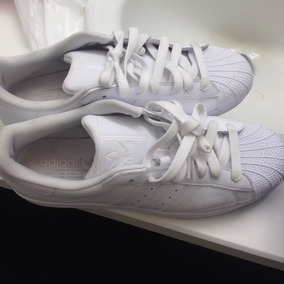 Adidas Shoes | All White Shell Toe