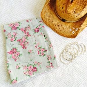 Gray Floral Shorts Size 11 NWOT