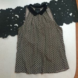 NWOT Cynthia Rowley black/tan top