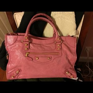 Balenciaga giant gold city in pink