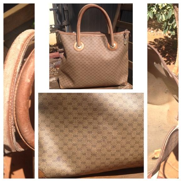 d53b888e4e3 Gucci Handbags - 🌸Vintage GUCCI GG PVC Canvas Tote Bag Beige