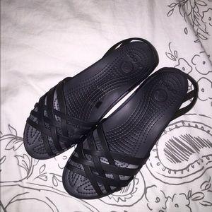 c06cd8b1759e crocs Shoes - Huarache mini wedge crocs in black