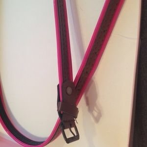 Accessories - Never worn.HOT PINK and brown belt