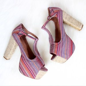 Jeffrey Campbell Shoes - Jeffrey Campbell • Striped Foxy Espadrille