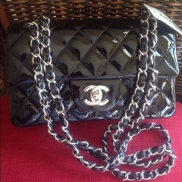 4ac673e846e92a CHANEL Bags | Auth Black Patent Leather Mini Flap Bag | Poshmark