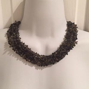 NWOT black beaded necklace
