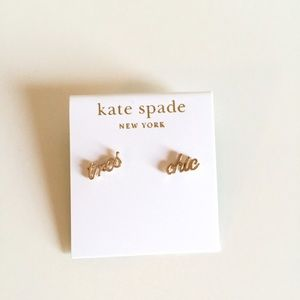 kate spade Jewelry - Kate Spade Tres Chic Gold Stud Earrings