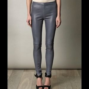 Gray/blue leather leggings, STUNNING