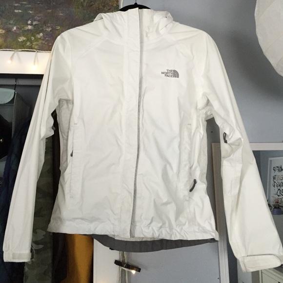 f8602f422 White Northface Rain Jacket - HyVent DT