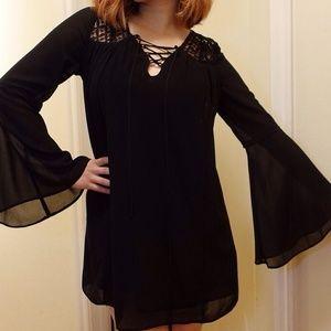 New Bell Sleeve Chiffon Dress