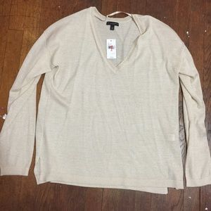 Lane Bryant Sweaters - Lightweight Gold Sparkle Sweater (new)