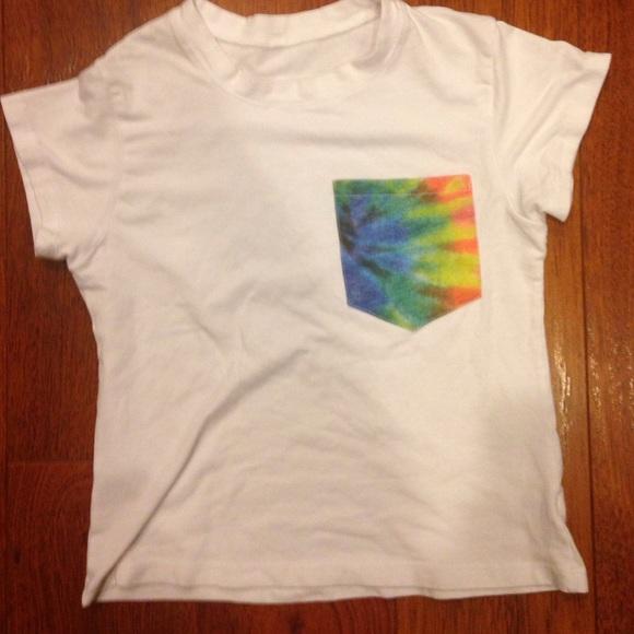 SOLD Brandy Melville tie dye pocket t shirt