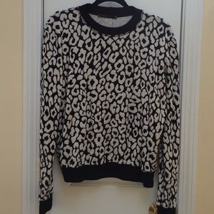 Twenty Tops - Twenty Tees Leopard Sweatshirt Top