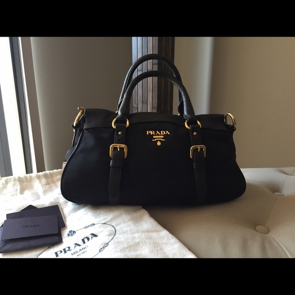 bd5a5166aad0 Authentic PRADA black nylon and leather bag . M 54edf53fd14d7b0dc002c047