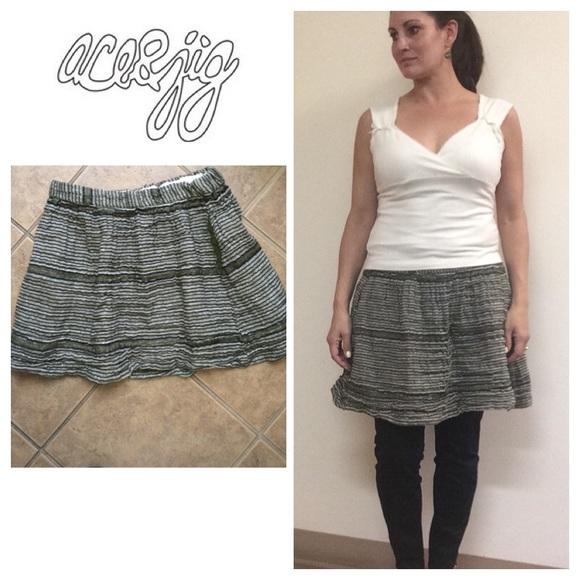 1fa18041b Anthropologie Dresses & Skirts - Ace & Jig stripe woven skirt