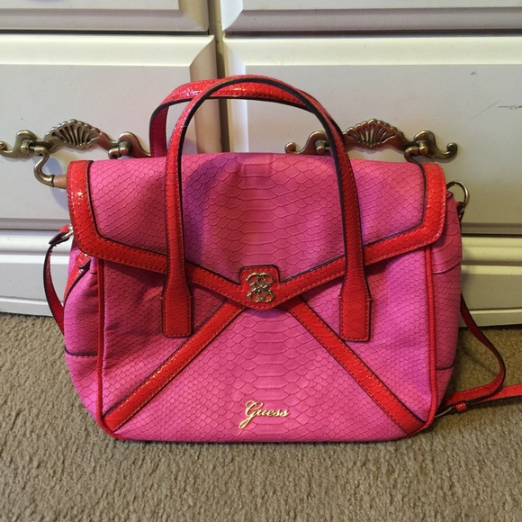 56% off Guess Handbags - Guess pink bag from Fan qi's closet on ...