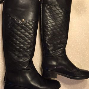 Tory burch Claremont boots Black