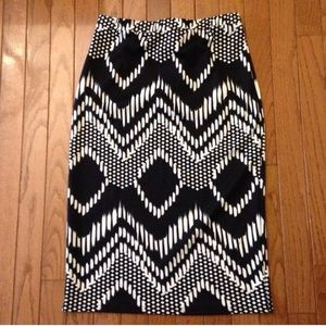 Ikat pencil skirt
