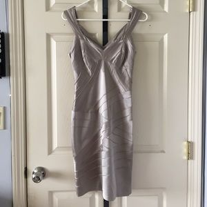 Karen Millen Taupe Bandage-look Dress
