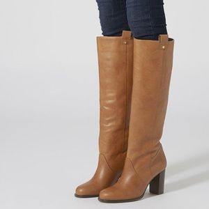 Topshop Brown Leather Riding Boots 7.5