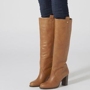 Topshop Brown Leather Riding Boots