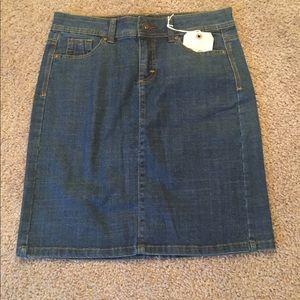 Wrangler Dresses & Skirts - Cute Denim Jean Skirt with Slit at Back