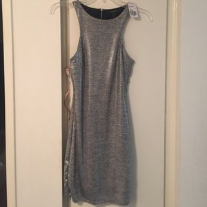 Metallic body con dress