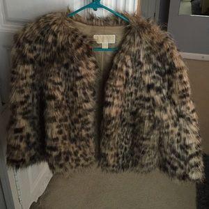 Michael Kors Faux fur leopard print coat!
