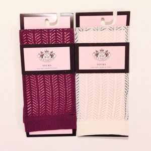 Juicy Couture Accessories - 🆕NWT Juicy Couture Trouser Socks Bundle