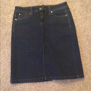 Wrangler Dresses & Skirts - Denim jean skirt with slit at back!