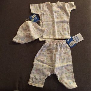 i Play Other - 3 piece Organic Cotton Baby Set